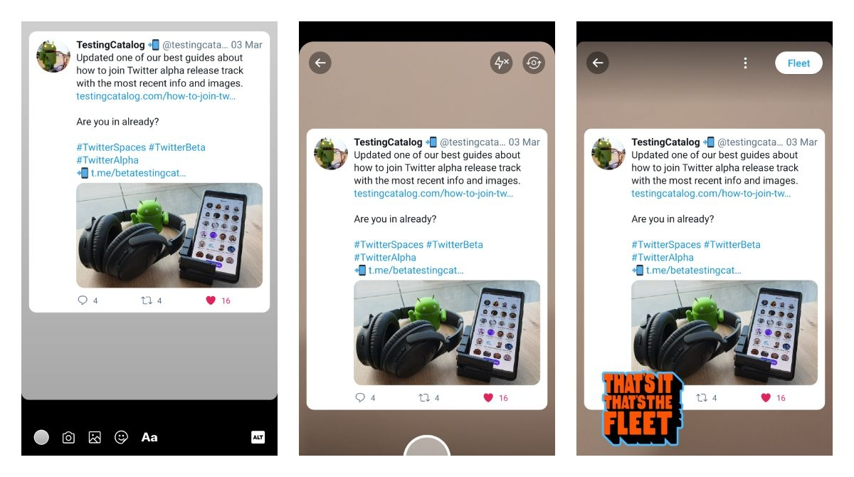 ICYMI: Twitter allows adding custom backgrounds to fleets on Android