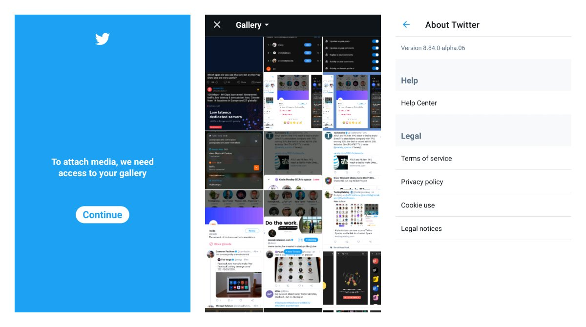 Twitter fixed its access to the gallery on Android 11